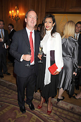 LORD NORTHBROOK and FARHEEN KHAN ALLSOPP at a dinner hosted by the Fortune Forum at The Dorchester, Park Lane, London W1 on 2nd July 2008.<br />