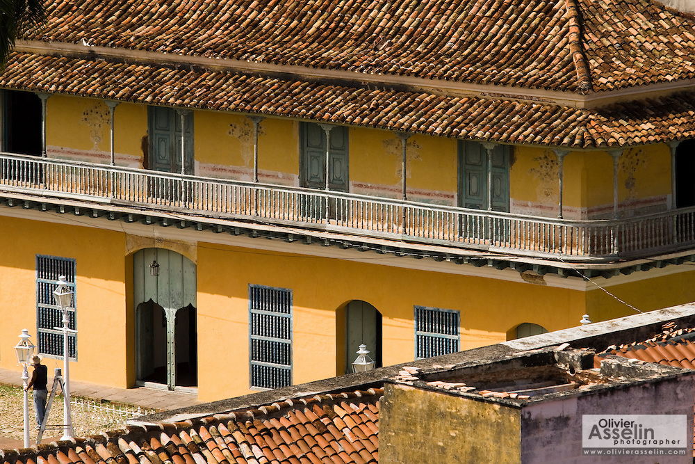 View of colonial buildings in Trinidad, Cuba on Thursday July 17, 2008.