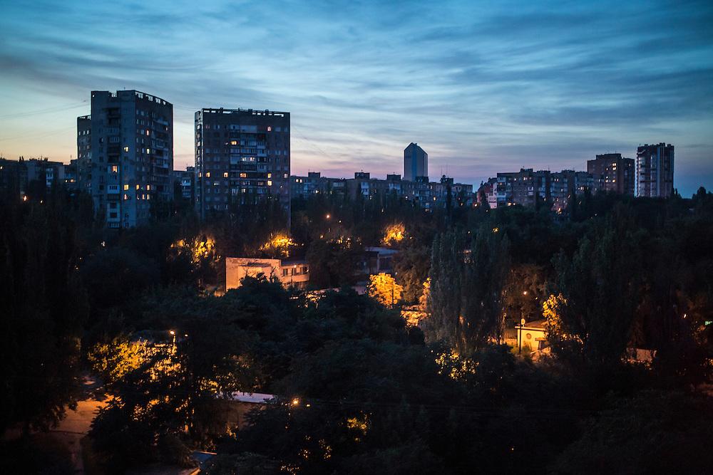 Sunset on Monday, July 28, 2014 in Donetsk, Ukraine.