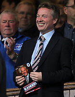 Football - Scottish Premier League - Rangers vs Dundee United<br /> <br /> Rangers new owner Craig Whyte clasps hold of the match programme prior to the Rangers vs Dundee United Clydesdale Bank Premier league match at Ibrox Stadium