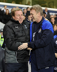 11.01.2012, White Hart Lane Stadion, London, ENG, PL, Tottenham Hotspur vs FC Everton, Nachtragsspiel, im Bild Everton manager David Moyes greets Tottenham Hotspur manager Harry Redknapp prior to the football match of English premier league, resentful game, between Tottenham Hotspur and FC Everton at White Hart Lane Stadium, London, United Kingdom on 2012/01/11. EXPA Pictures © 2012, PhotoCredit: EXPA/ Propagandaphoto/ Chris Brunskill..***** ATTENTION - OUT OF ENG, GBR, UK *****