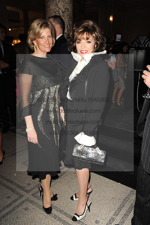 Left to right, HRH The COUNTESS OF WESSEX and  JOAN COLLINS at the opening of the Victoria & Albert Museum's latest exhibition 'Grace Kelly: Style Icon' opened by His Serene Highness Prince Albert of Monaco at the V&A on 15th April 2010.