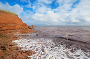Iron rich red soil along the Gulf of St. Lawrence<br />