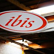 Walking into Ibis headquarters from behind roll-up door number 3.