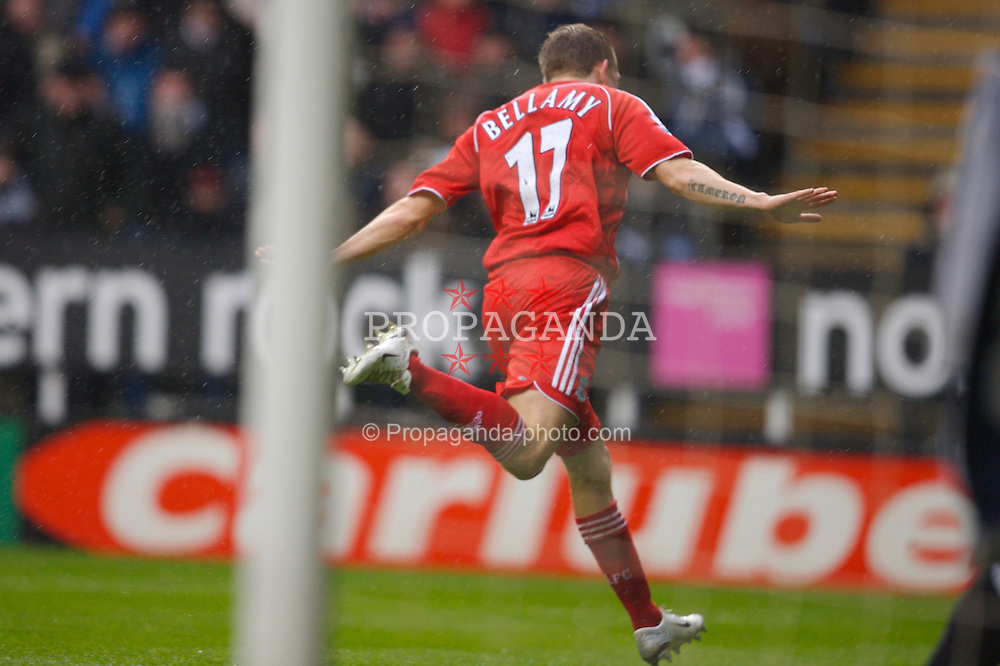 Newcastle, England - Saturday, February 10, 2007: Liverpool's Craig Bellamy celebrates scoring the opening goal against Newcastle United during the Premiership match at St James' Park. (Pic by David Rawcliffe/Propaganda)