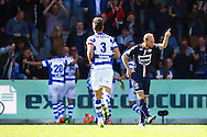 27-09-2015 VOETBAL: DE GRAAFSCHAP - WILLEM II:DOETINCHEM<br /> <br /> Frank van der Struijk van Willem II is woedend na het doelpunt Vincent Vermeij van De Graafschap <br /> <br /> Foto: Geert van Erven
