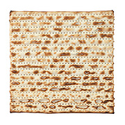 Matza - Close up on white background