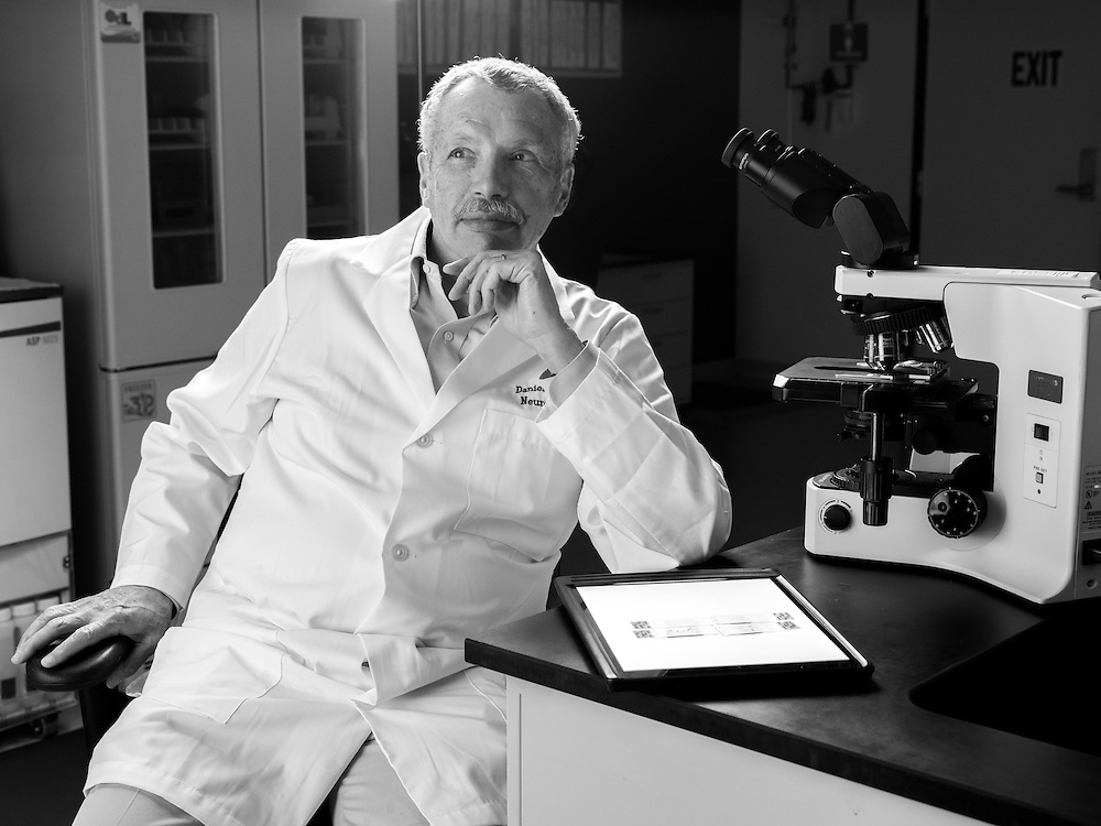 Dr. Daniel Perl at his lab in Rockville, MD.