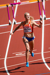 05-08-2017 IAAF World Championships Athletics day 2, London<br /> Anouk Vetter NED (zevenkamp) in actie op de 100 meter horden
