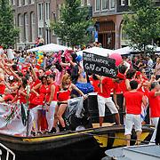NLD/Amsterdam/20120804 - Canalparade tijdens de Gaypride 2012, de eerste Turkse Gayboot