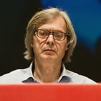 VENICE, ITALY - JUNE 03:  Curator Vittorio Sgarbi   attends the conference for the opening of the Italian pavillion at the 54th Venice Biennale on June 3, 2011 in Venice, Italy. his year's Biennale is the 54th edition and will run from June 4th until 27 November.