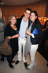 Left to right, KATE GIBSON, EDWARD MONCKTON and ALEXANDRA SMITH at a party hosted by Links of London to launch their new Driver Chicane Chronograph Watch held at Lonks, Sloane Square, London on 24th September 2008.