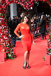© Licensed to London News Pictures. 13/02/2014. London, UK. Lizzie Cundy as she attends during A New York Winter's Tale premiere outside the Odeon Kensington. Photo credit : Andrea Baldo/LNP