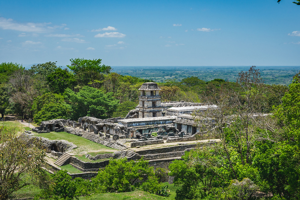 View over ruins of Palenque, Mexico