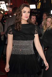 February 18, 2019 - London, United Kingdom - Keira Knightley at The Aftermath World Premiere at the Picturehouse Central, Shaftesbury Avenue and Great Windmill Street. (Credit Image: © Keith Mayhew/SOPA Images via ZUMA Wire)