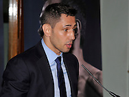 Picture by Alan Stanford/Focus Images Ltd +44 7915 056117<br /> 10/10/2013<br /> Felix Sturm pictured during a press conference at Trinity House, London.