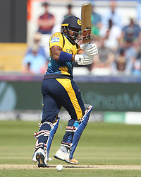 June 28, 2019 - Chester Le Street, County Durham, United Kingdom - Avishka Fernando of Sri Lanka batting  during the ICC Cricket World Cup 2019 match between Sri Lanka and South Africa at Emirates Riverside, Chester le Street on Friday 28th June 2019. (Credit Image: © Mi News/NurPhoto via ZUMA Press)