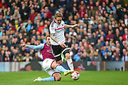 Fulham midfielder Stefan Johansen (14) in action during the EFL Sky Bet Championship match between Fulham and Aston Villa at Craven Cottage, London, England on 17 April 2017. Photo by Jon Bromley.