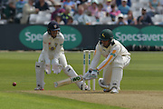 Brendan Taylor reverse sweeps during the Specsavers County Champ Div 1 match between Nottinghamshire County Cricket Club and Durham County Cricket Club at Trent Bridge, West Bridgford, United Kingdom on 28 May 2016. Photo by Simon Trafford.