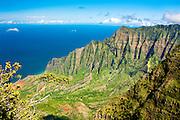 Kalalau Valley overlook on Kauai, Hawaii
