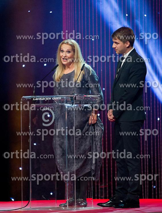 Olga Kacjan and Rok Bicek at Slovenian Sports personality of the year 2013 annual awards presented on the base of Slovenian sports reporters, on December 19, 2013 in Cankarjev dom, Ljubljana, Slovenia.  Photo by Vid Ponikvar / Sportida