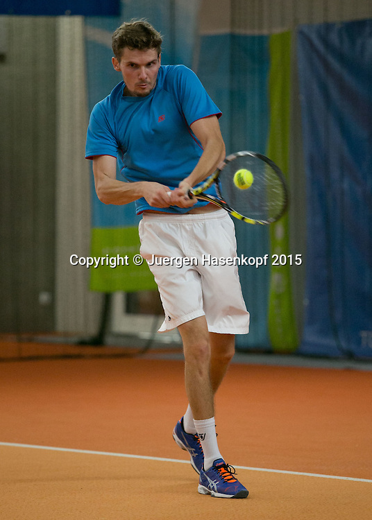 Oscar Otte (GER)<br /> <br /> Tennis - Ismaning Open 2015 - ITF 10.000 -  TC Ismaning - Ismaning - Bavaria - Germany - 30 October 2015. <br /> &copy; Juergen Hasenkopf