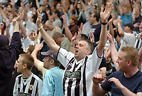 Photo: Leigh Quinnell.<br /> Notts County v Bury. Coca Cola League 2. 06/05/2006.<br /> A Notts County fan celebrates staying in the football league.