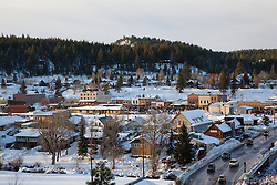 """Downtown Truckee 2"" - This snowy scene of Downtown Truckee, CA was photographed in an incredible snowy November, called Snovember by some locals."