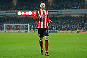 Oliver Norwood in action during the Premier League match between Sheffield United and Manchester City at Bramall Lane, Sheffield, England on 21 January 2020.