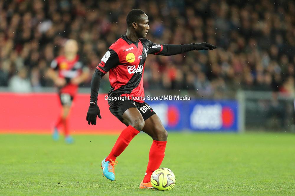 Benjamin BROU ANGOUA - 14.12.2014 - Guingamp / Paris Saint Germain - 18eme journee de Ligue 1<br />Photo : Vincent Michel / Icon Sport
