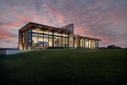 98_Lyle modern home design exterior night