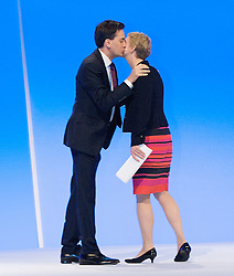 Yvette Cooper MP, Shadow Home Secretary and Ed Miliband during the Labour Party Conference in Manchester, October 3,  2012, Photo by Elliott Franks / i-Images