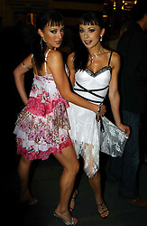 The CHEEKY GIRLS at the opening night of the musical Murderous Instincts at The Savoy Theatre, London on 7th October 2004.<br />