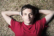Portrait of Comic Daniel Simonsen in St James Park on Thursday 25, July 2013.