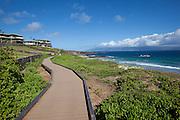 Oneloa Beach, Kapalua Coastal Trail, Kapalua, Maui, Hawaii