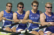 2003 - FISA World Cup Rowing Milan Italy.30/05/2003  - Photo Peter Spurrier.GBR M4- (B) Toby Garbett, Steve Williams, Josh West and Rick Dunn [Mandatory Credit: Peter Spurrier:Intersport Images]