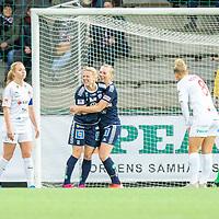 2019-10-13 | Malmö, Sweden: Linköpings FC (11) Mimmi Larsson celebrates 0-1 during the game between FC Rosengård and Linköpings FC at Malmö IP ( Photo by: Roger Linde | Swe Press Photo )<br /> <br /> Keywords: Malmö IP, Malmö, Soccer, OBOS Damallsvenskan, FC Rosengård, Linköpings FC, rl191013
