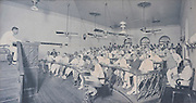 Tea Auction in progress at the Ceylon Chamber of Commerce - sale room. 1909<br /> picture by Colonial Photo Company, Ceylon.<br /> from Bartleet & Co.