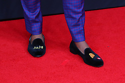 February 2, 2019 - Atlanta, GA, U.S. - ATLANTA, GA - FEBRUARY 02:  JuJu Smith-Schuster's shoes as he poses for photos on the red carpet at the NFL Honors on February 2, 2019 at the Fox Theatre in Atlanta, GA. (Photo by Rich Graessle/Icon Sportswire) (Credit Image: © Rich Graessle/Icon SMI via ZUMA Press)