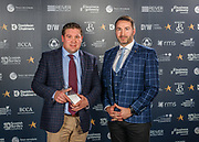Scottish Border of Chamber Border Busines awards, 2017, held at Springwood Hall.<br /> <br /> 'Retailer of the Year' winner Fin &amp; Game, based in Kelso. Sponsored by Retail Management Solution, (RMS) EPOS, based in Selkirk.<br /> <br /> The award was collected on their behalf by the Kelso Provost, Dean Weatherston with pictures here with RMS&rsquo; Jim Lenaghan.