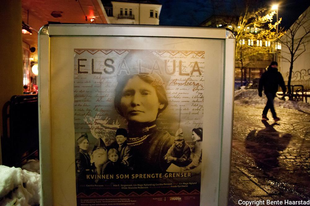 Urpremiere, Elsa Laula - kvinnen som sprengte grenser, Byscenen i Trondheim. 6. februar 2012.