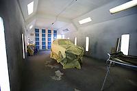 Car part in garage