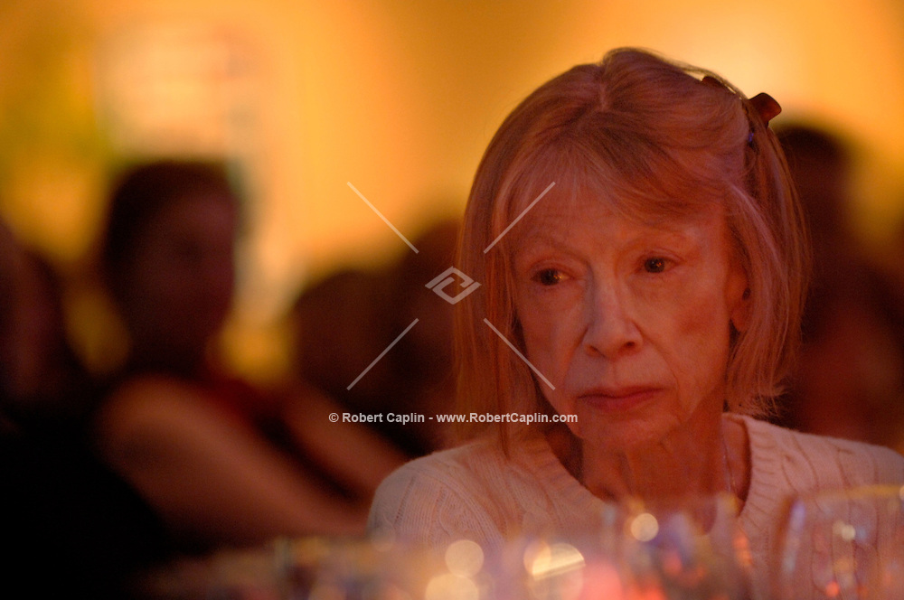 "Joan Didion won the National Book Award for Nonfiction at the 2005 National Book Awards held at the Marriott Marquis in Times Square for her book ""The Year of Magical Thinking"". Nov. 16, 2005. (Robert Caplin/For The New York Times)...."