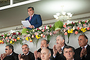President Emomali Rakhmon of Tajikistan, speaking at Nawruz celebrations in Dushanbe. March 2012