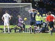 Dundee keeper Scott Bain makes a fantastic double save to deny Ross County&rsquo;s Andrew Davies - Ross County v Dundee, Ladbrokes Premiership at Victoria Park<br /> <br />  - &copy; David Young - www.davidyoungphoto.co.uk - email: davidyoungphoto@gmail.com