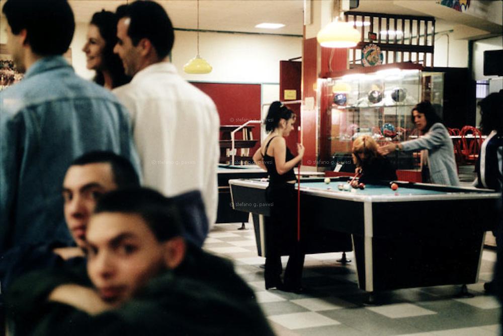 Milan, Missaglia District.<br /> Saturday night at 'Bowling del Sole'