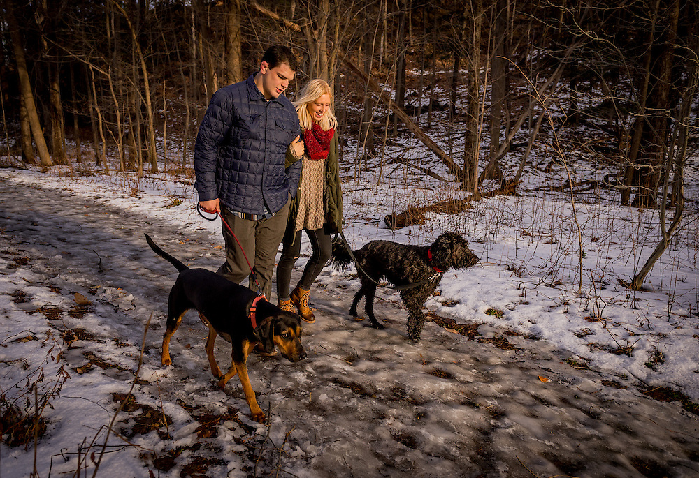 Alli Oathout and August Mizia, photographed Jan. 11, 2017 at Wintergreen Gorge in Erie, Pa. Photo by Andy Colwell