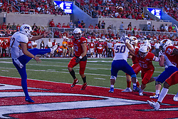 NORMAL, IL - September 07: Andrew Foster punts from deep in the endzone during a college football game between the ISU (Illinois State University) Redbirds and the Morehead State Eagles on September 07 2019 at Hancock Stadium in Normal, IL. (Photo by Alan Look)