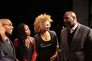 November 6, 2012- Harlem, NY:  (L-R) Dr. Khalil Gibran Muhammad, Director, The Schomburg Center, Civil Rights Activist Monifa Bandele, Writer/Image Activist Michaela Angela Davis and Author William Jelani Cobbs at the U.S. Presidential Election Watch Party held at the Schomburg Center for Research in Black Culture on November 6, 2012 in Harlem, New York City. The Schomburg Center for Research in Black Culture, a research unit of The New York Public Library, is generally recognized as one of the leading institutions of its kind in the world. For over 80 years the Center has collected, preserved, and provided access to materials documenting black life, and promoted the study and interpretation of the history and culture of peoples of African descent. (Terrence Jennings)