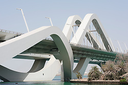 Sheikh Zayed Bridge in Abu Dhabi , United Arab Emirates, Architect Zaha Hadid